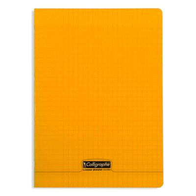calligraphe 8000 polypro cahier 96 pages 21 x 29 7 cm seyes grands carreaux orange