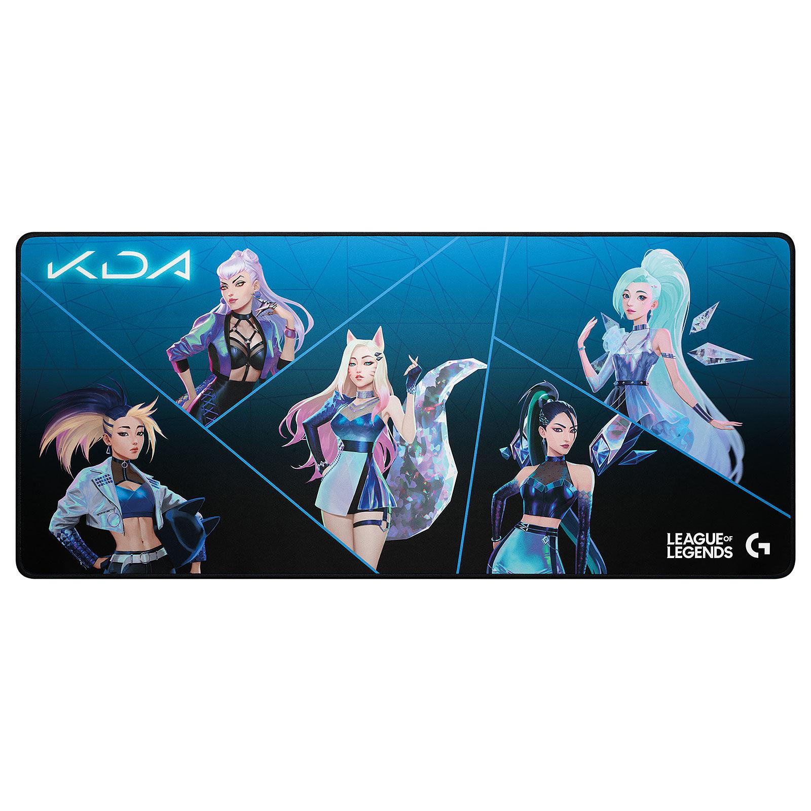 logitech g840 xl gaming mouse pad lol k da