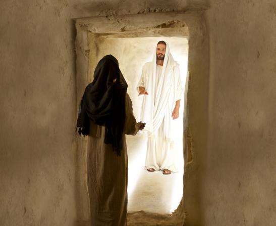 John 20:3–18, Mary Magdalene speaks with the resurrected Christ