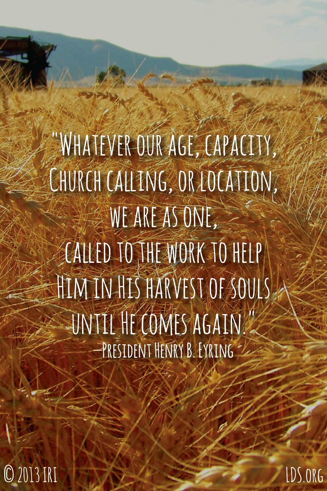 Fall Harvest Wallpaper 1024x768 Henry B Eyring Quotes Quotesgram