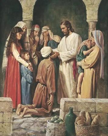 Jesus sana a un ciego