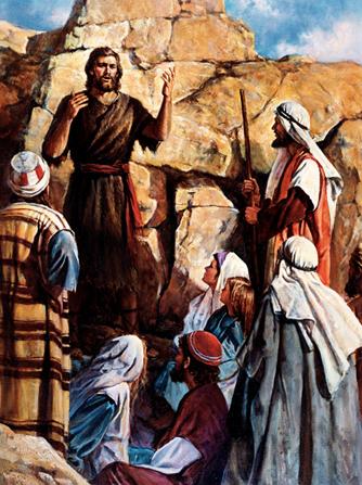 Juan predica en el desierto