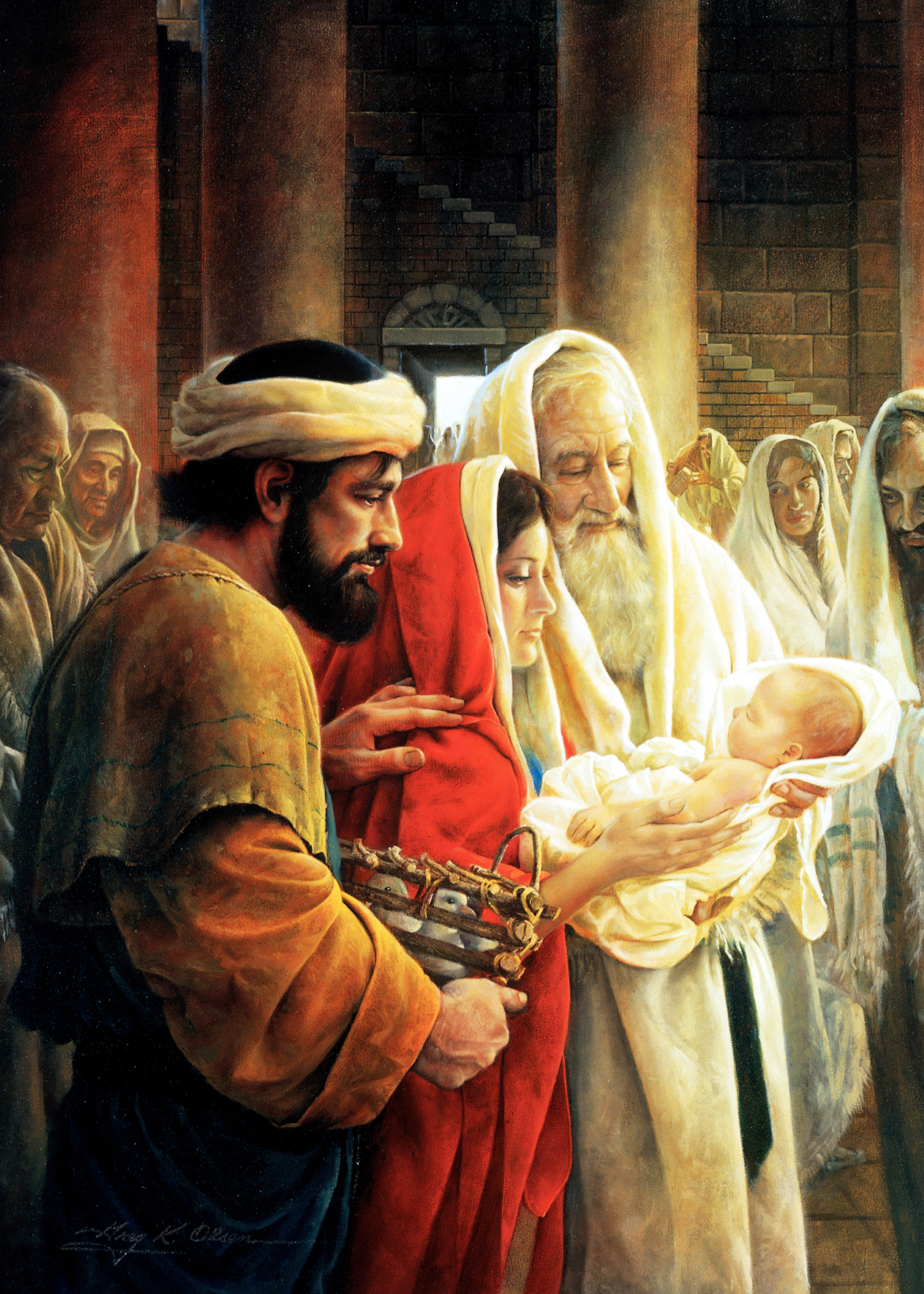 Image result for picture of simeon and baby jesus
