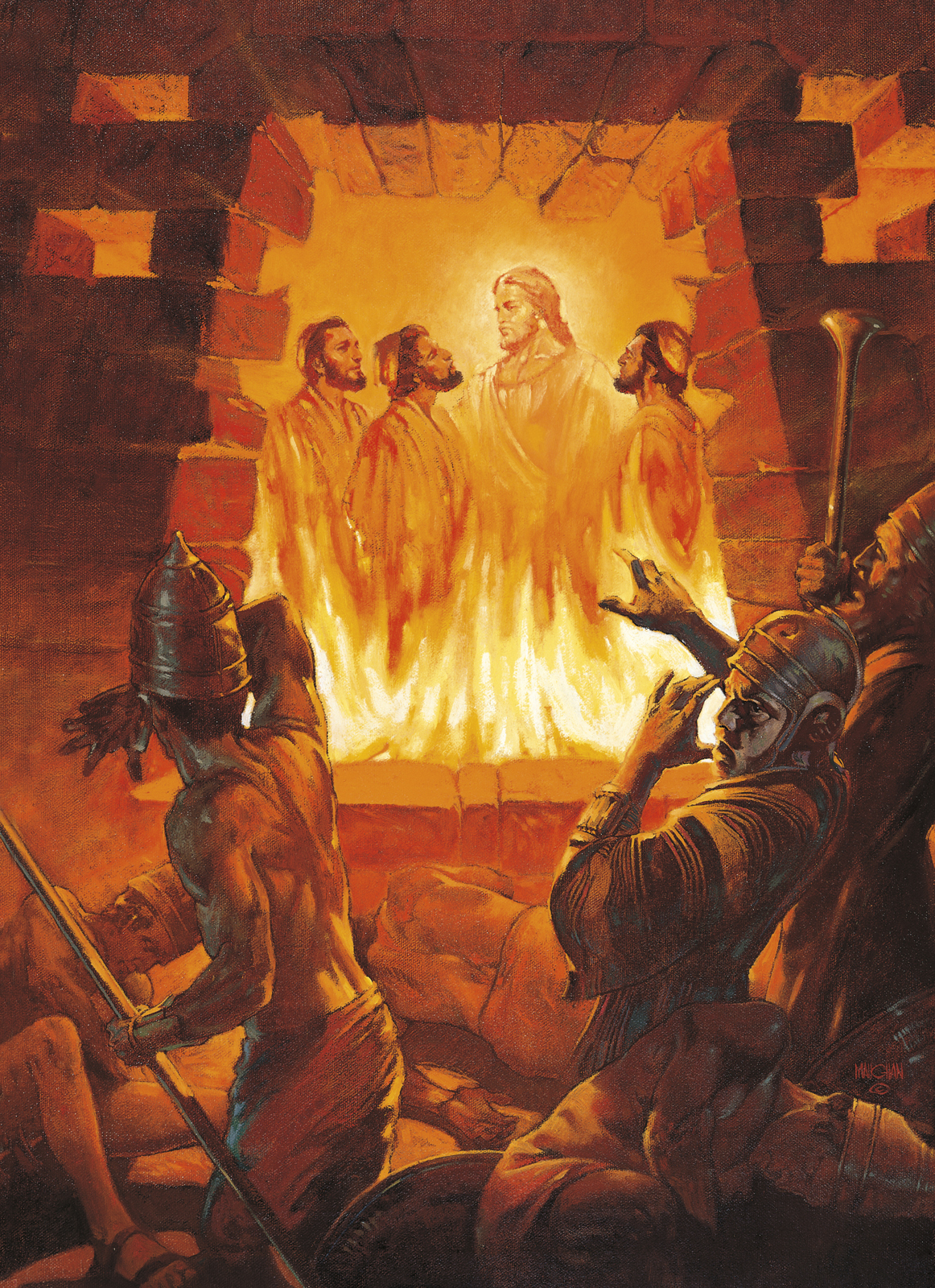 Three Men in the Fiery Furnace (Shadrach, Meshach, and