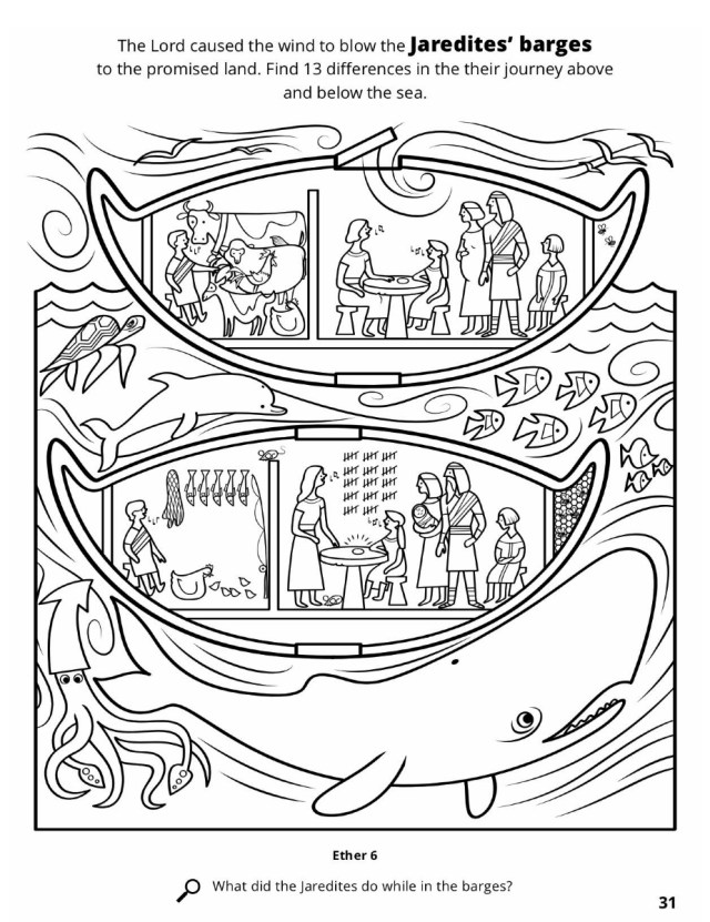 Jared and the jaredites coloring pages