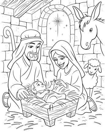baby jesus coloring page # 2