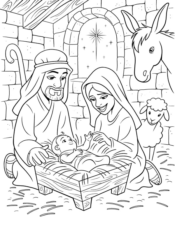 baby jesus coloring page # 4