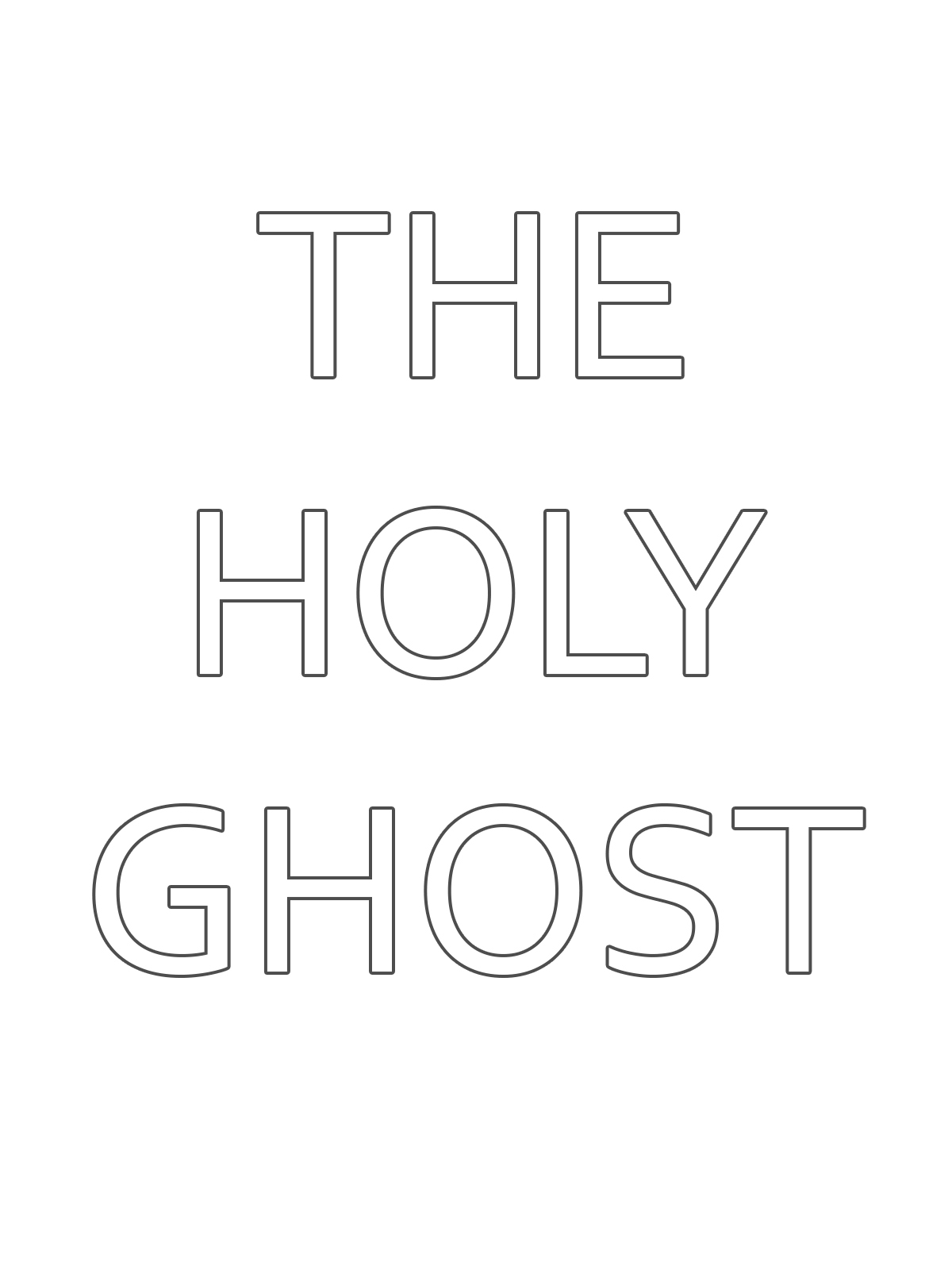 The Holy Ghost Text