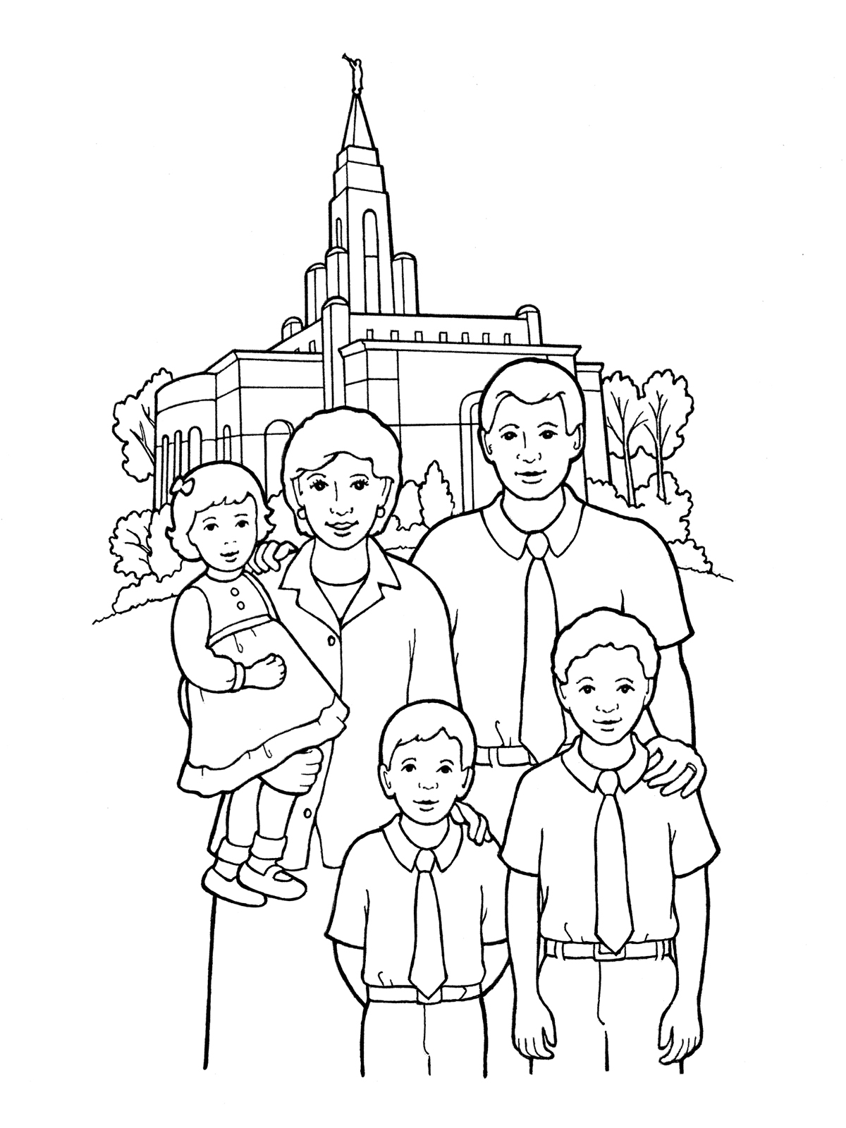 Lds Coloring Pages Families Can Be Together Forever