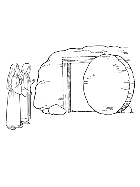 Mary By Empty Tomb