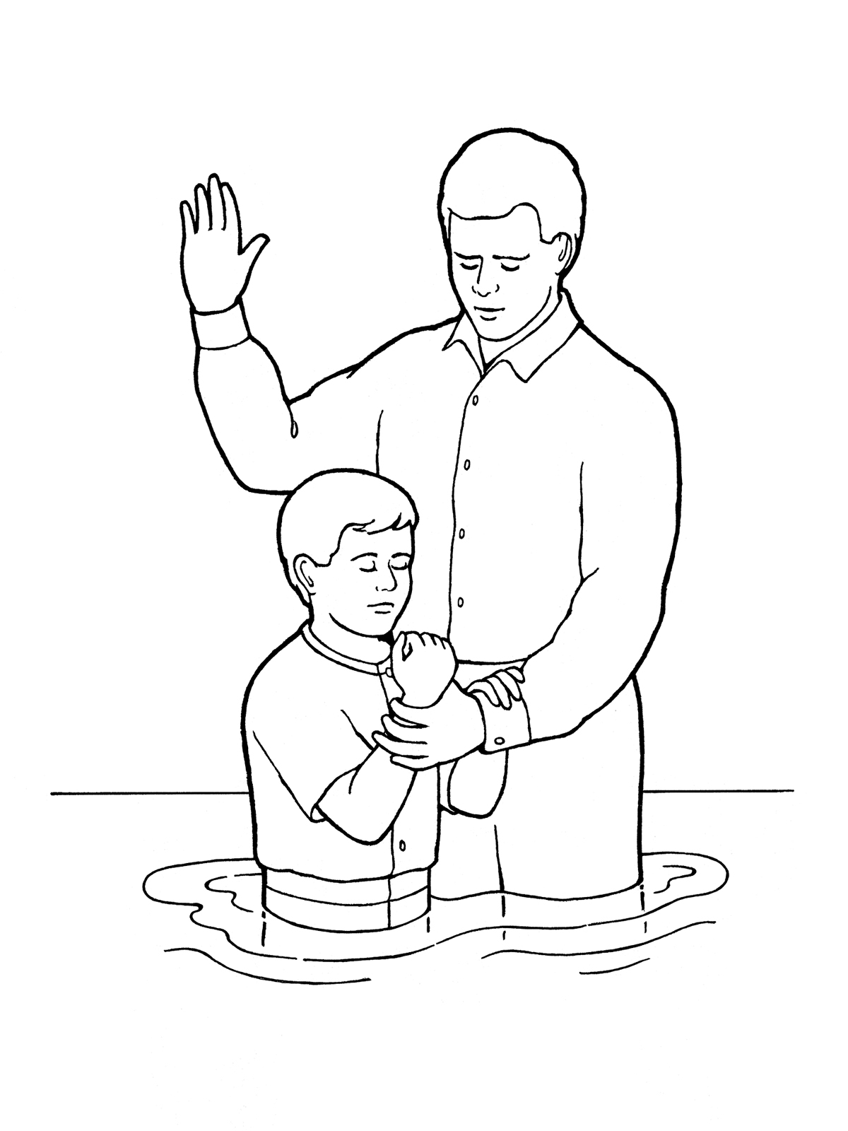 Young Boy Baptism