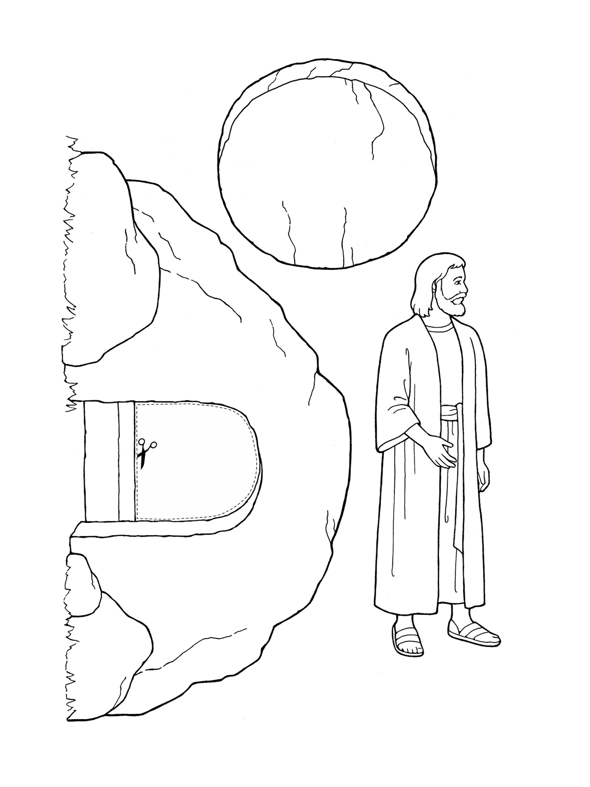 Free coloring pages of the widow of nain