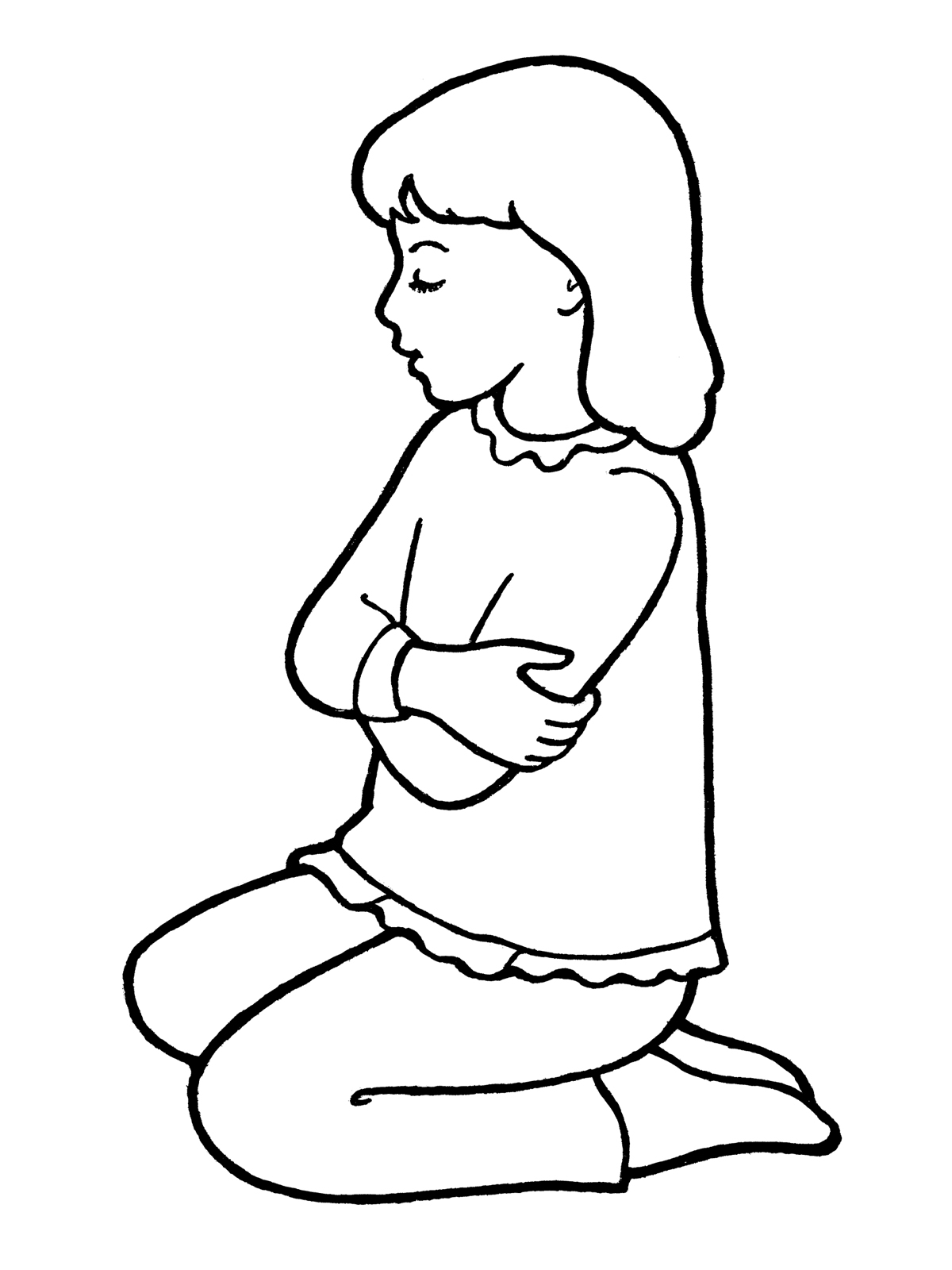 Small Girl Kneeling