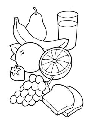 healthy symbols milk fruits illustration