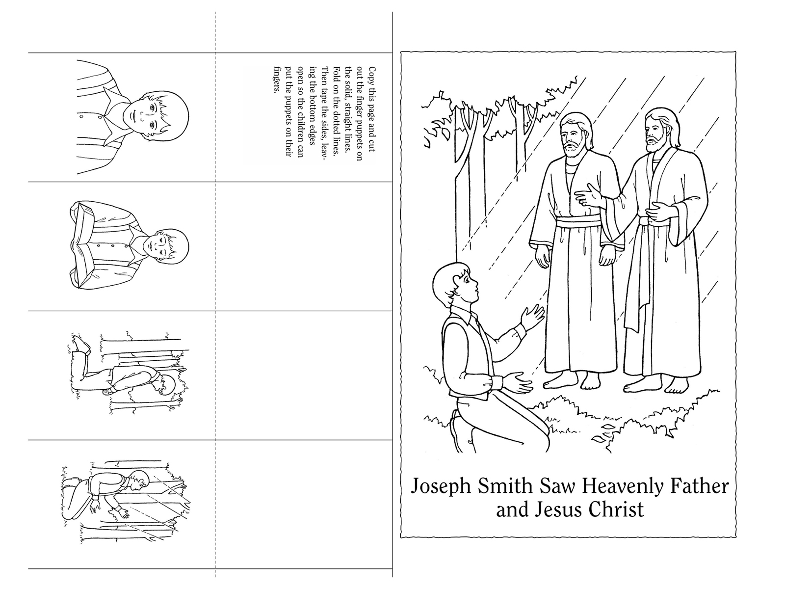 Nursery Manual Page 91 Joseph Smith Saw Heavenly Father And Jesus Rh Lds  Org Sign Language