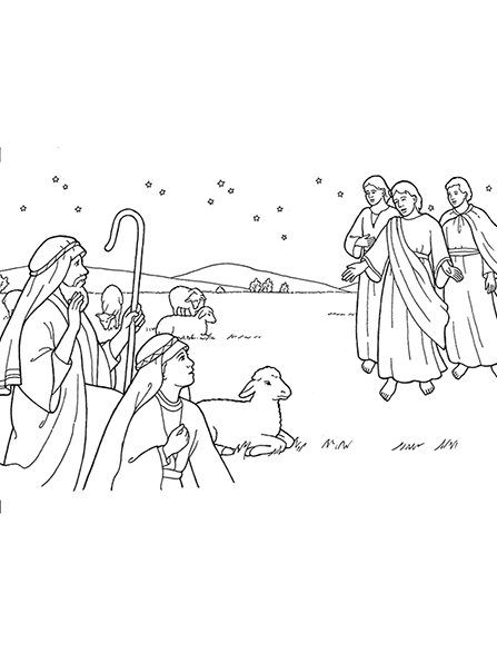 Nativity: Angels Appear to Shepherds