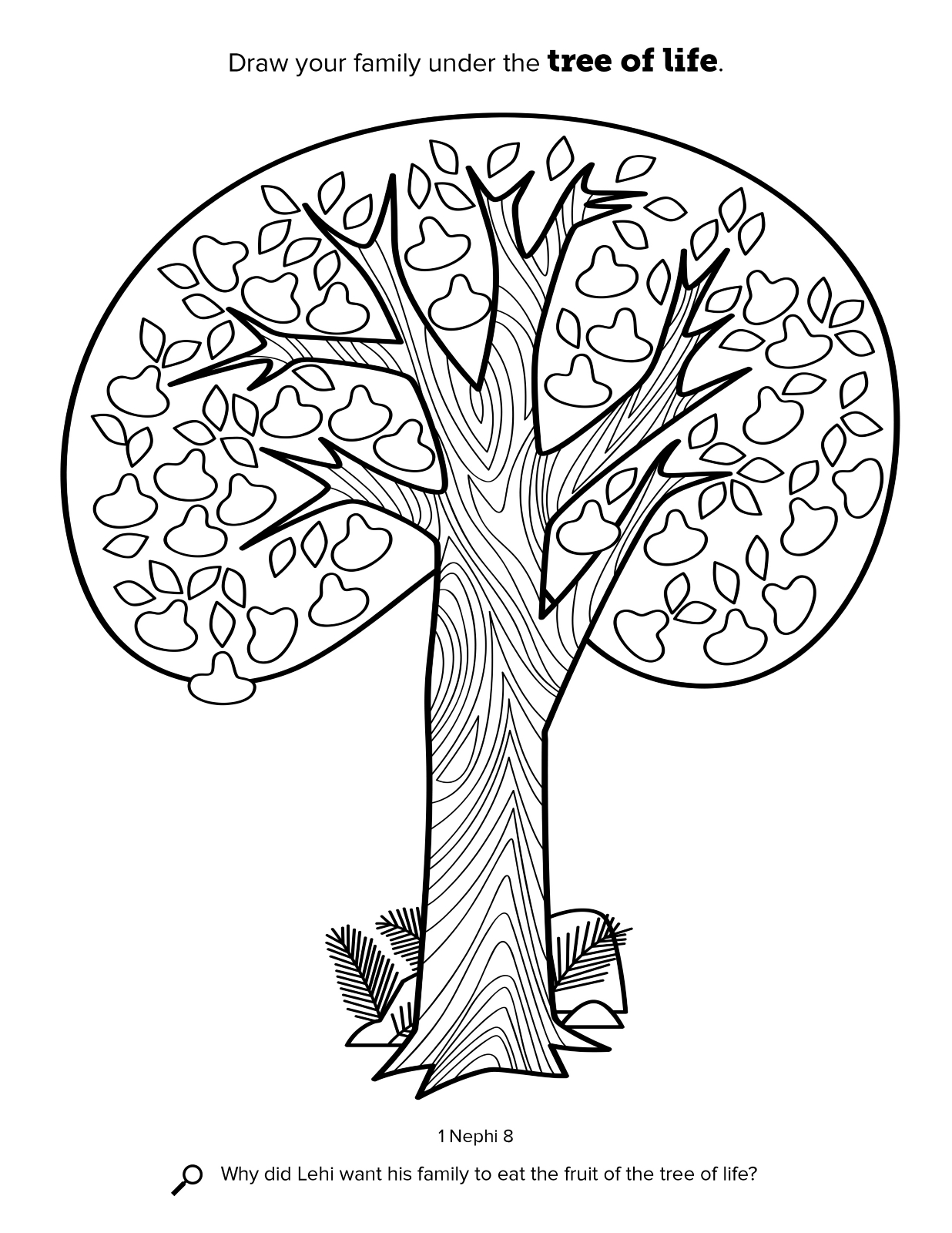 Tree Life Coloring Book