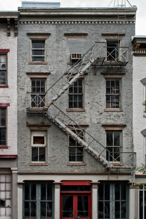 Gray Quotes Wallpaper Building With A Fire Escape