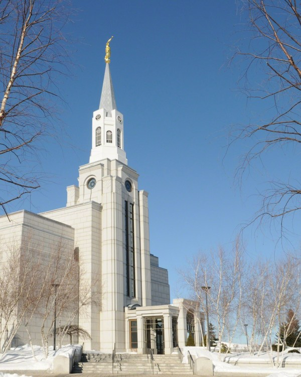 The Boston Massachusetts Temple at Winter