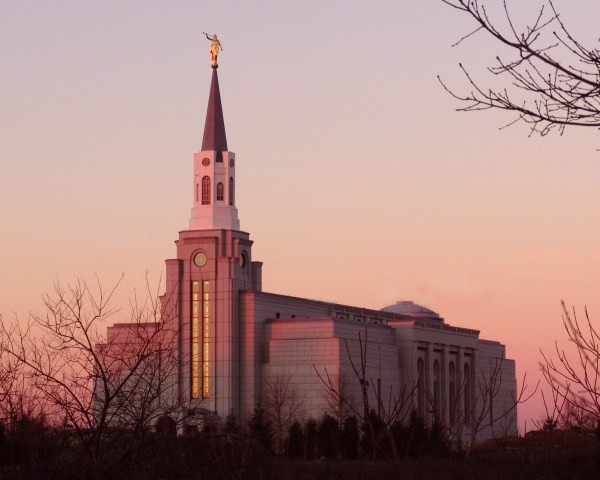Boston Massachusetts Temple in the Evening