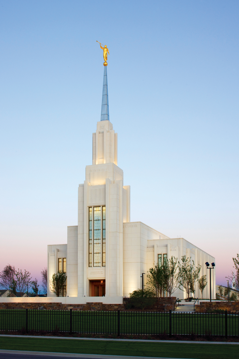 Free Fall Facebook Wallpaper Twin Falls Idaho Temple In The Evening