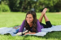 Young Woman Reading Scriptures LDS