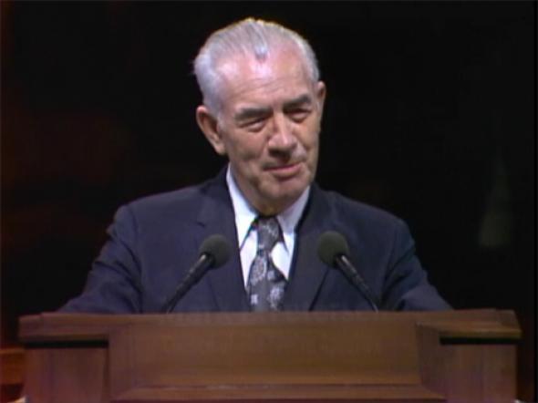 Mark E. Petersen, Apóstolo da Igreja SUD (1944-1984), a quem Thomas Monson chamou de