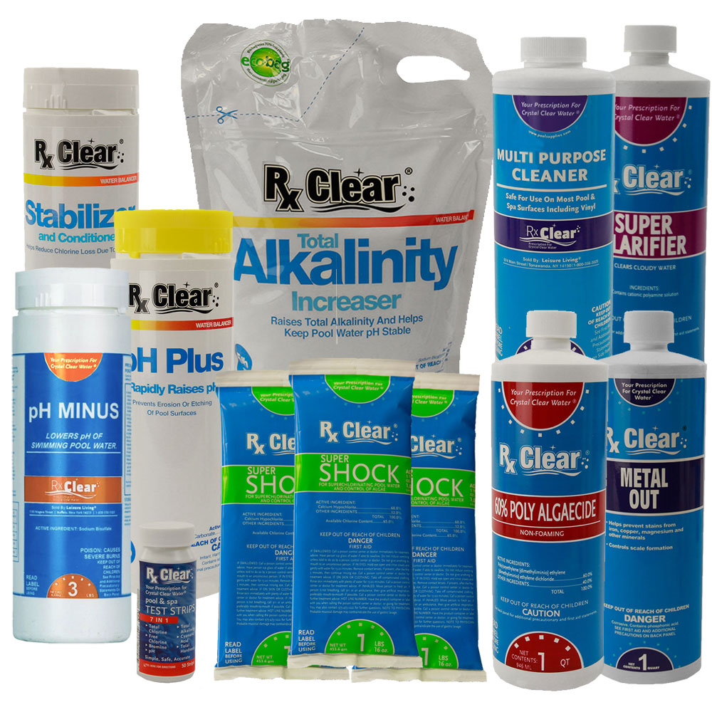 Check out these 14 tips before you get started. Rx Clear Deluxe Spring Opening Pool Chemical Kit A Up To 7 500 Gallons Poolsupplies Com