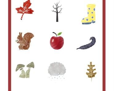 lektioner, lektionsmaterial, gratis lektioner, skolmaterial, knep och knåp, pyssel, stenciler, årstiderna, hösten, utomhuspedagogik, hösttecken, utomhus, utflykt