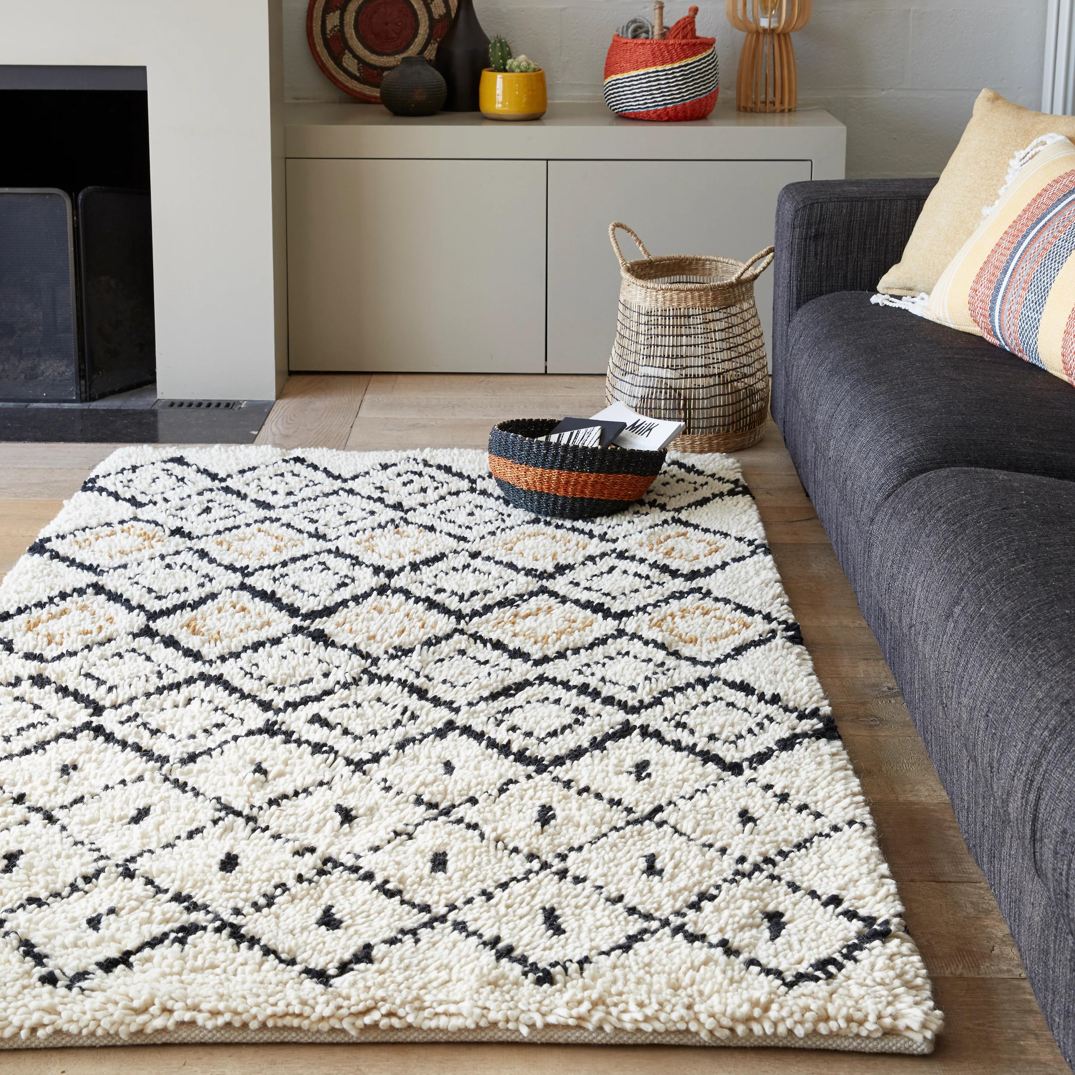 un tapis pour habiller votre salon