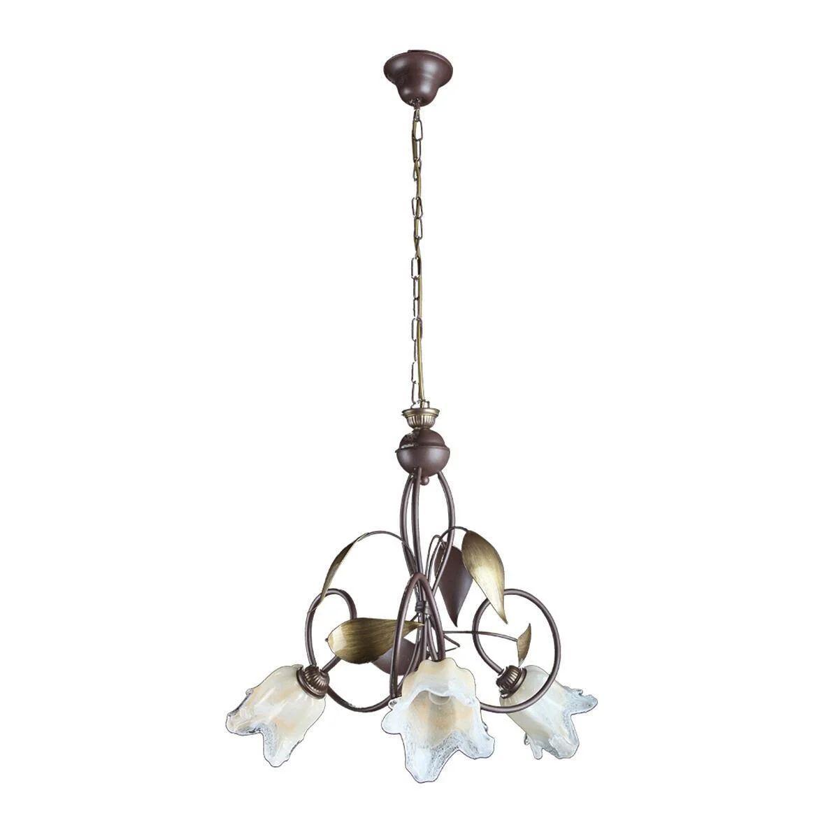 Questi lampadari a sospensione per cucina sono ideali. Lampadario Rustico Otello Marrone In Metallo L 57 Cm 3 Luci Novecento Leroy Merlin