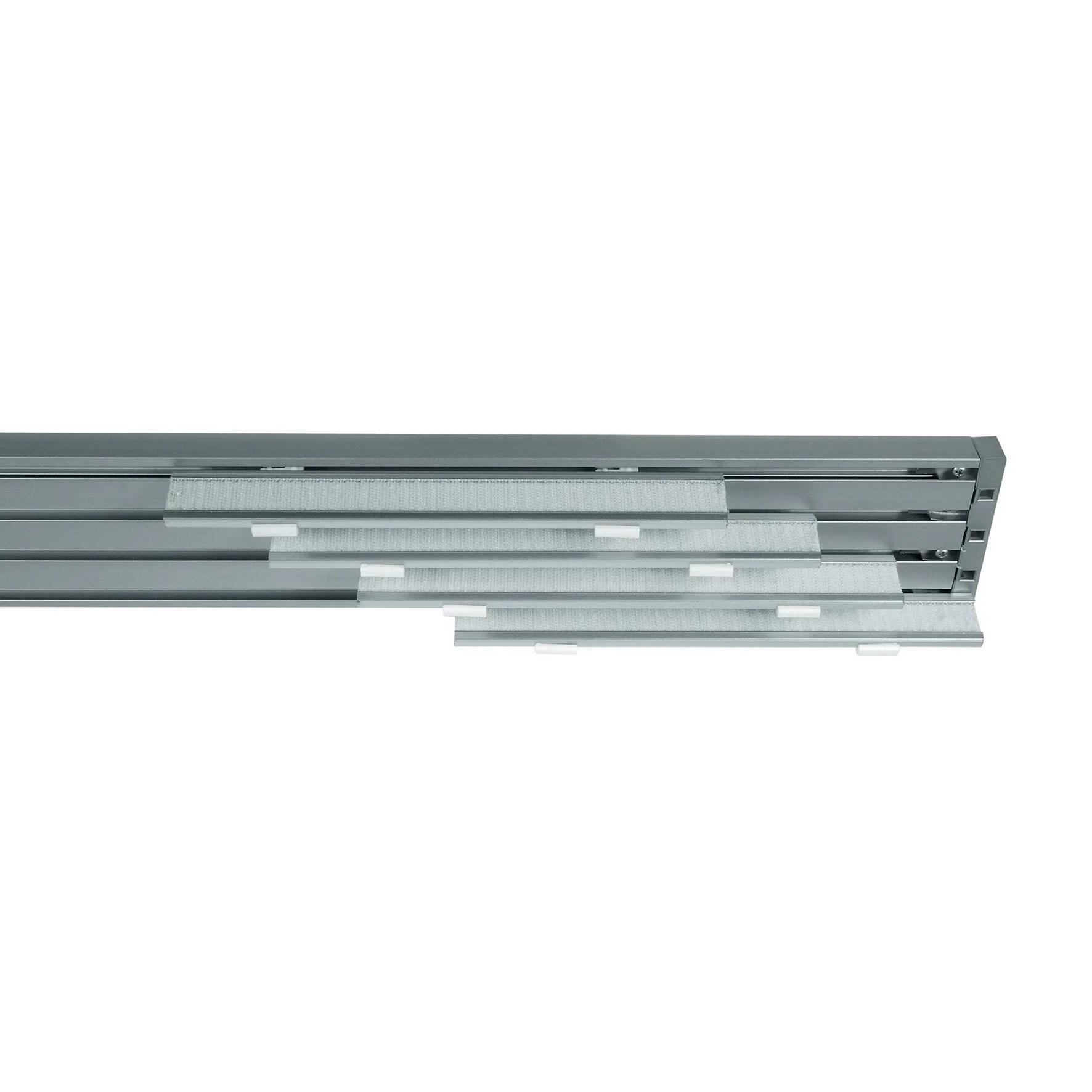 Per chi ama lo stile classico e i. Binario Per Pannello Giapponese Singolo 4 Vie Cruiser Alluminio 225 Cm Grigio Leroy Merlin