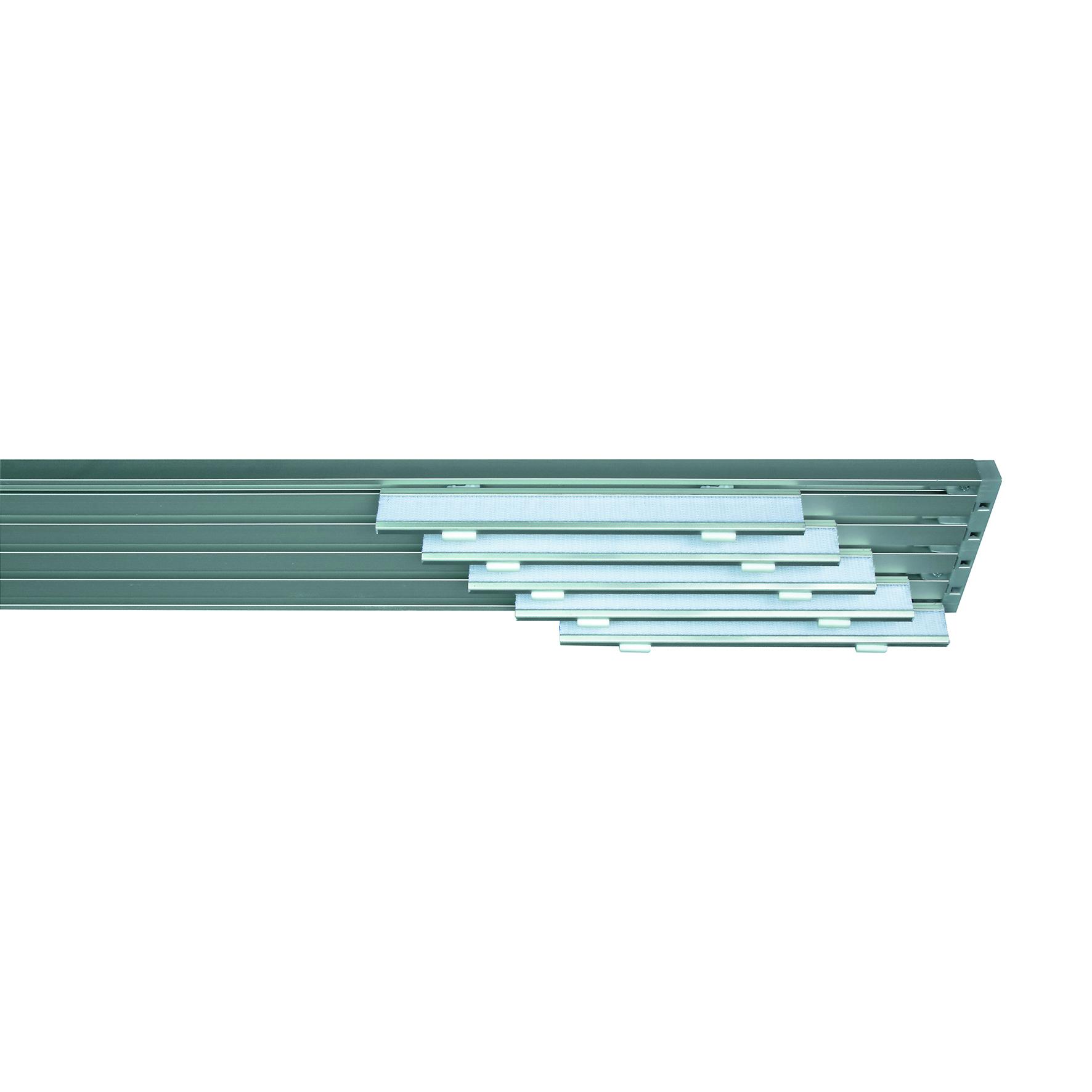 Le tende a pannello sono la giusta scelta per una casa dallo stile innovativo. Binario Per Pannello Giapponese Singolo 5 Vie Cruiser Alluminio 280 Cm Grigio Leroy Merlin