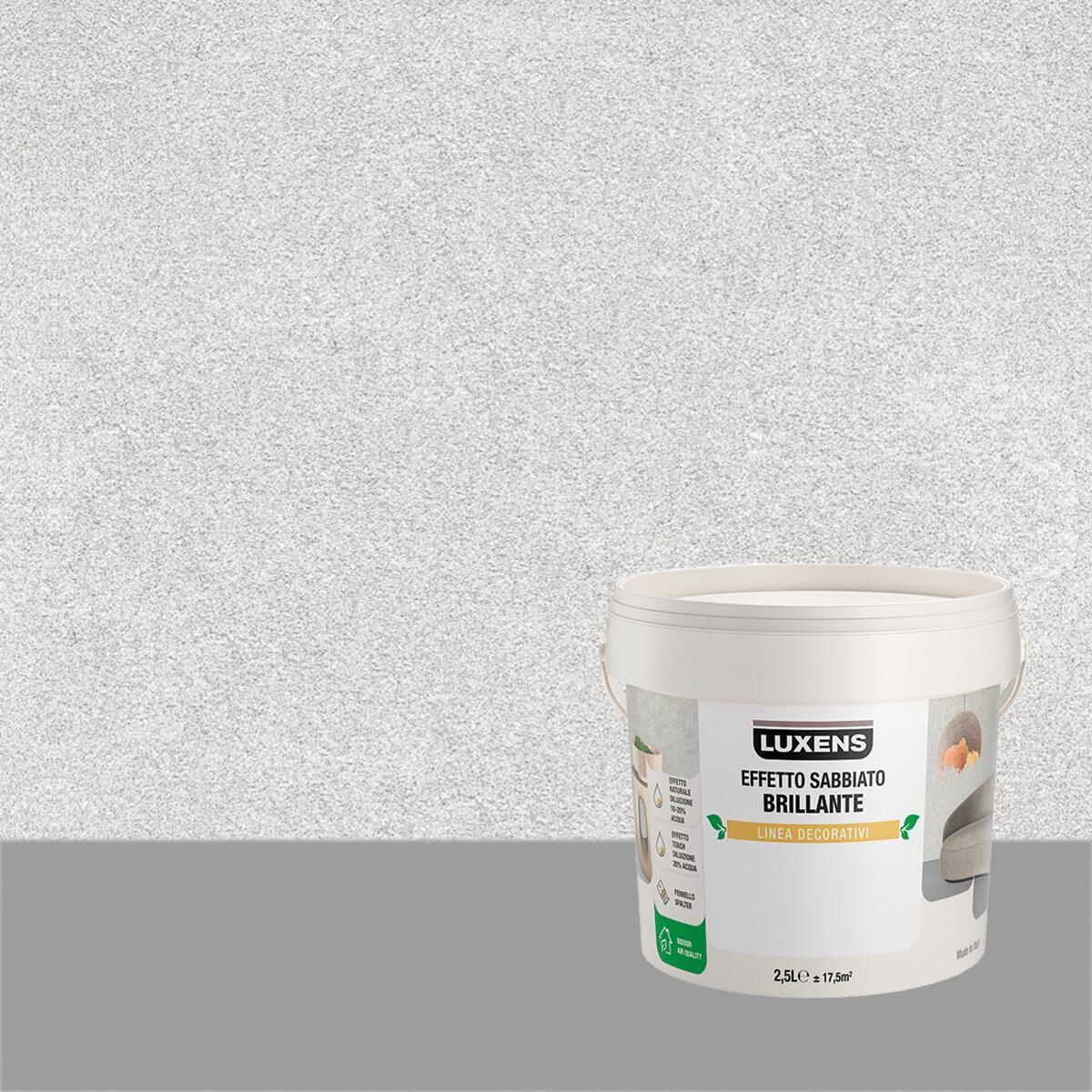 Scegliere le vernici giuste per le pareti interne o esterne di un'abitazione è molto importante. Pittura Decorativa Luxens 2 5 L Grigio Argento Effetto Sabbiato Leroy Merlin