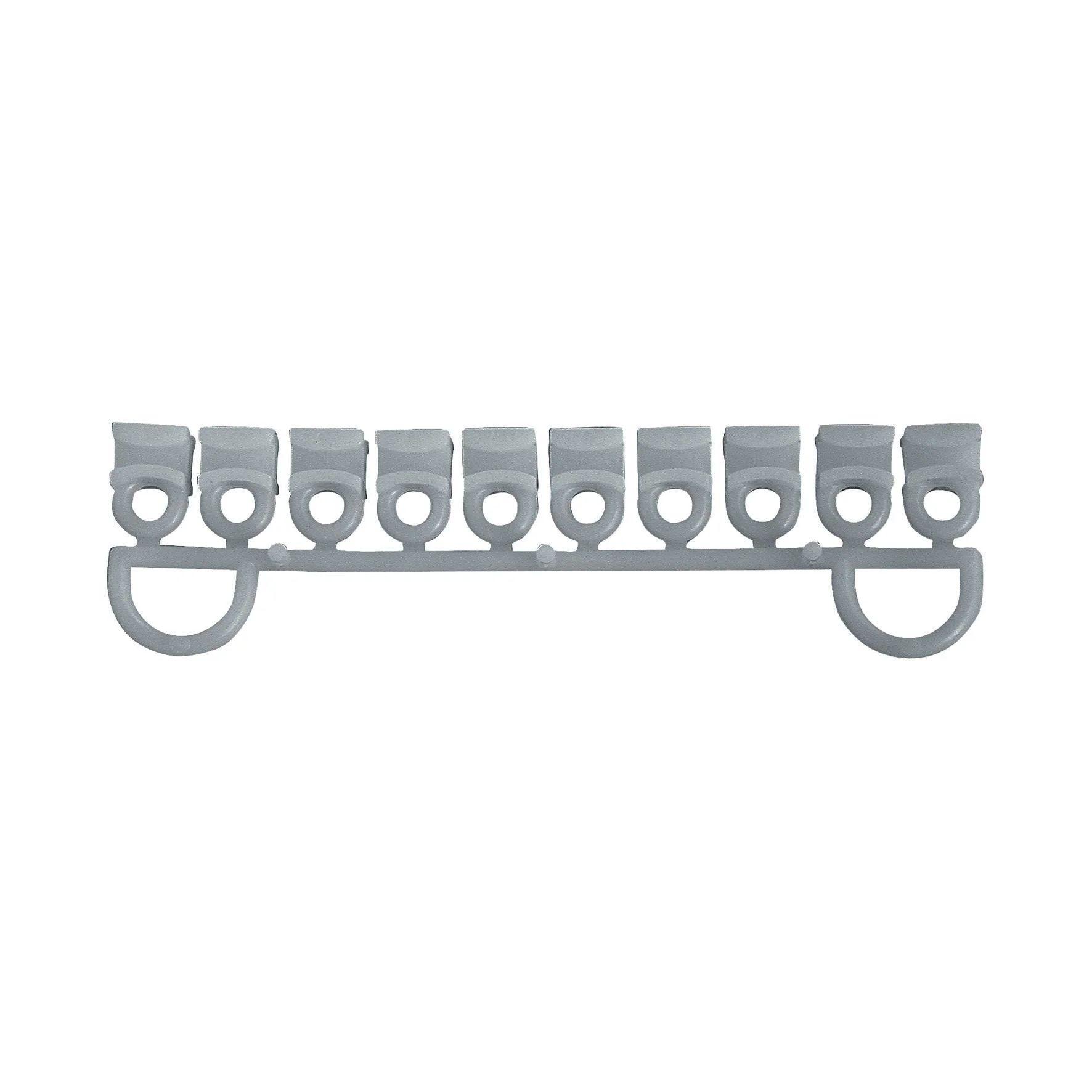 Pannello reticolare diritto 45x180 cm, quadrati 4 cm. Cursori Per Binario In Plastica Bianco 10 Pezzi Leroy Merlin