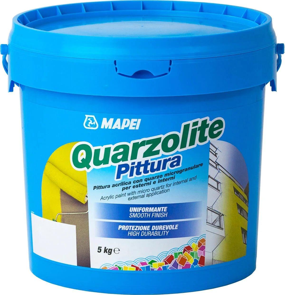 Farina di quarzo formula acrilsilossanica. Pittura Al Quarzo Mapei Quarzolite Bianco 5 L Leroy Merlin