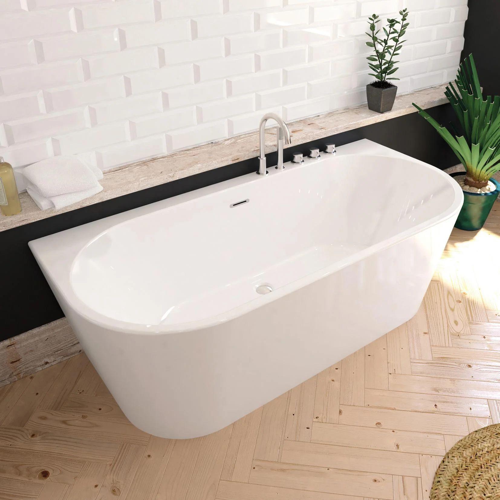 In bagno, però, solitamente le tende vengono messe perché esso è. Vasca Rettangolare Torino Bianco 170 X 80 Cm Sanycces Leroy Merlin