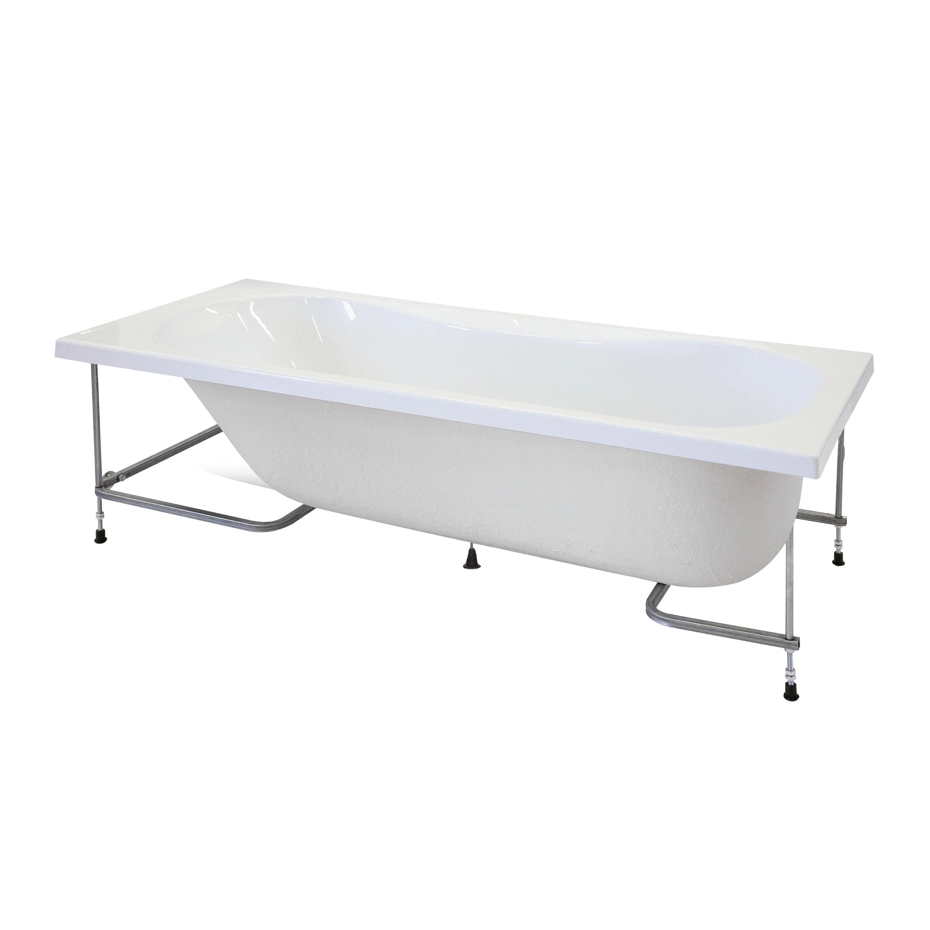Tenda da bagno, design samo. Vasca E Telaio Egeria 170 X 80 Cm Bianco 030 Leroy Merlin