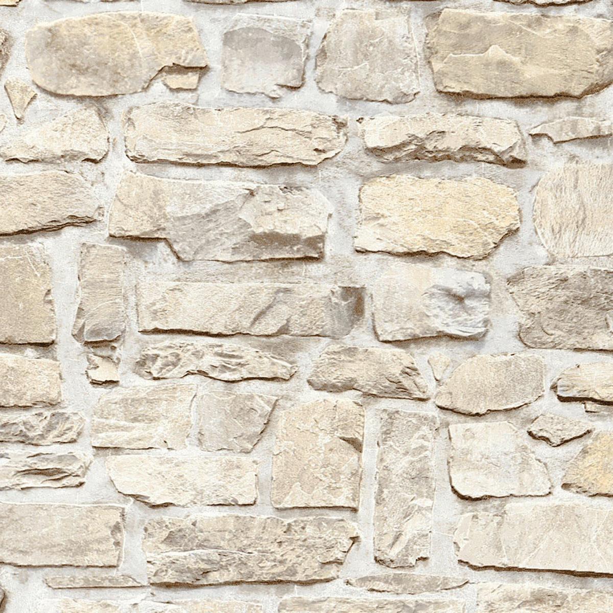 Il grés porcellanato effetto 'carta da parati'. Carta Da Parati Muro Rustico Beige 53 Cm X 10 M Leroy Merlin