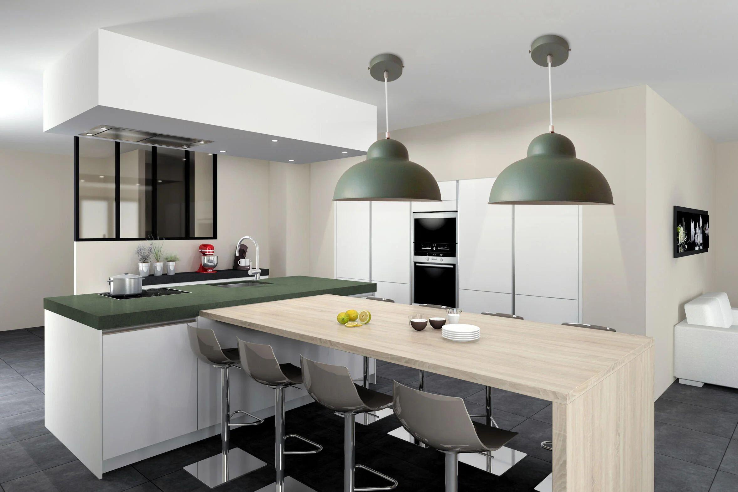 Il punto critico comune è il montaggio dei mobili, legato principalmente a due aspetti: Lampadario Scandinavo Kolibri Verde In Metallo D 31 Cm On Leroy Merlin