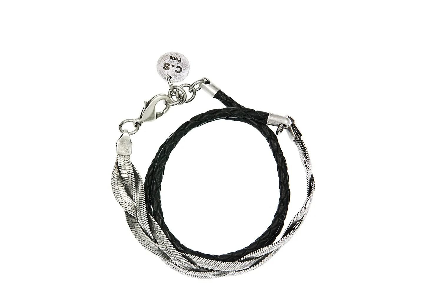 Bracelet Torsade Triple Coralie de Seynes Argent L'Exception