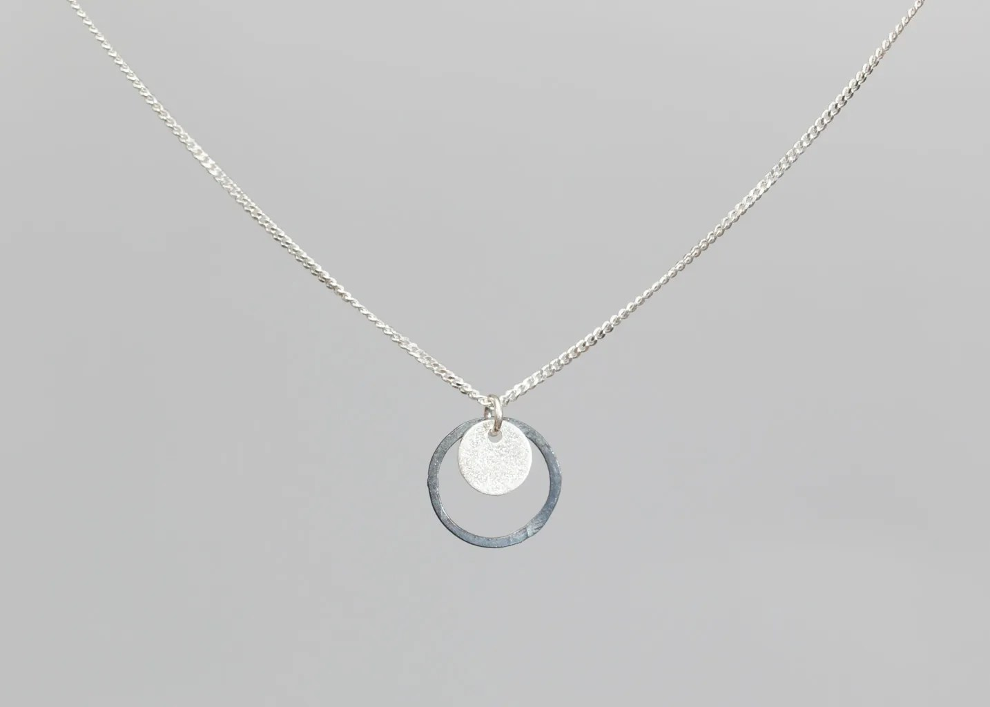 Small Eclipse Necklace Magali Paris Silver L Exception
