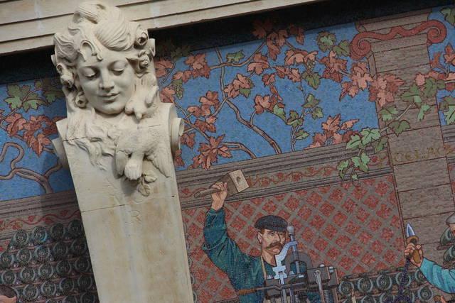 Le style Art Nouveau de la façade a été totalement préservé.