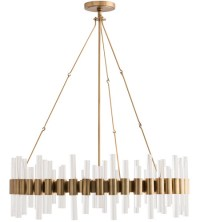 Arteriors 89055 Haskell 8 Light 34 inch Antique Brass ...