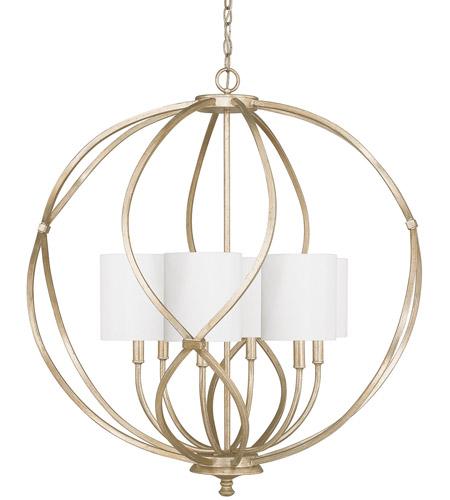 capital lighting 4720wg 565 bailey 6 light 32 inch winter gold pendant ceiling light in white fabric shade
