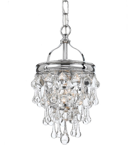 Crystorama 131 Ch Calypso 1 Light 8 Inch Polished Chrome Mini Chandelier Ceiling In