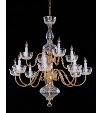 Crystorama Colonial 12 Light Chandelier in Polished Brass ...