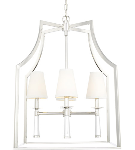 Crystorama 8864 Pn Baxter 4 Light 22 Inch Polished Nickel Chandelier Ceiling In