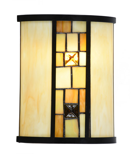 dale tiffany stw15092led evelyn led 8 inch tiffany bronze wall sconce wall light vertical