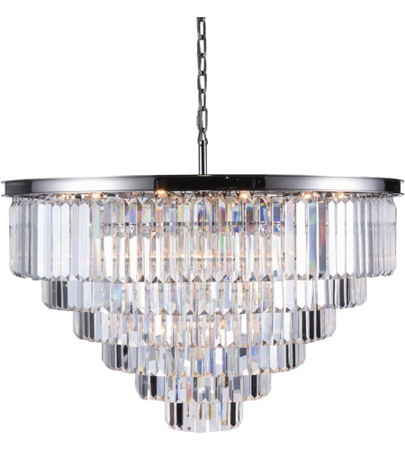 sydney 33 light 44 inch polished nickel chandelier ceiling light urban classic